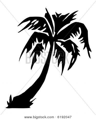 Tropical Palm Tree Silhouette