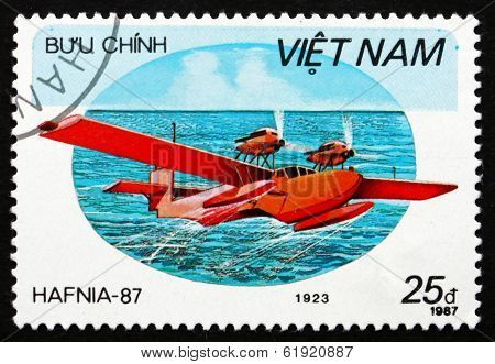 Postage Stamp Vietnam 1987 Rohrbach Rostra, Seaplane