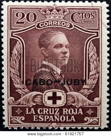 SPAIN - CIRCA 1907: A stamp printed in Spain shows Alfonso XII circa 1907