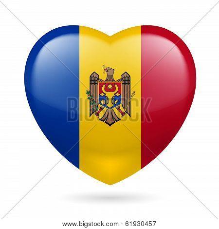 Heart icon of Moldova