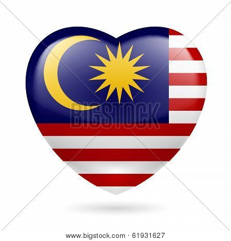 Heart icon of Malaysia