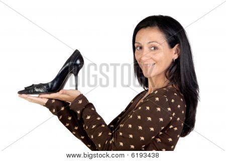 Attractive Girl With Heel