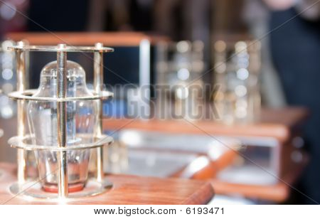Vacuum Lamp On Tube Amplifier