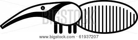 Cute animal anteater - illustration