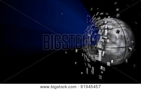 3d sphere background