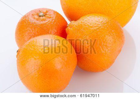 Fresh Orange Halved To Show The Pulp