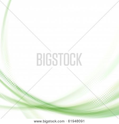 Satin Green Swoosh Line Background