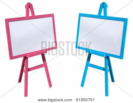 Pink And Blue, White Board