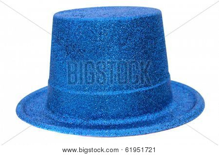 Genuine Glitter Party Hats of various different colors, isolated on white with room for your text. Glitter Hats are worn around the world by Party People Everywhere when they want to have a good time.