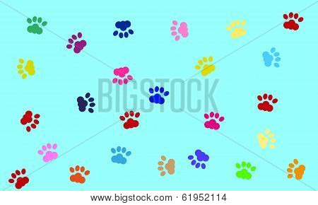 vector dog paws