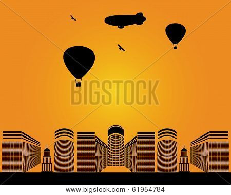 City Buildings Zeppelin