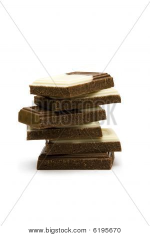 Stack Of Pieces Of Chocolate