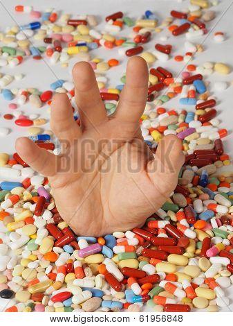 Drug Addiction Concept