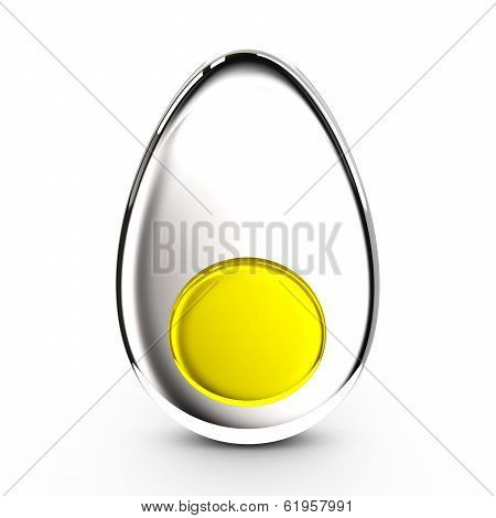 Half of egg, 3d icon