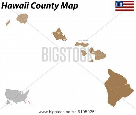 Honolulu County Map