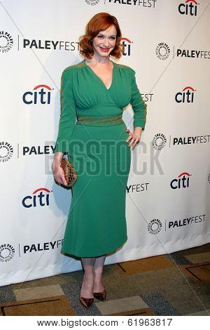 LOS ANGELES - MAR 21:  Christina Hendricks at the PaleyFEST 2014 -