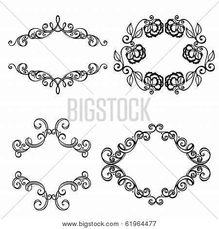 Decorative Ornamental Frame for Text. Design element