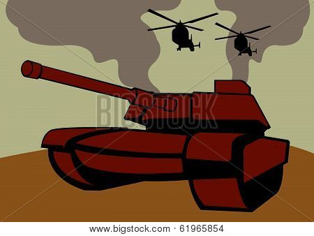 War With Tanks And Helicopters.