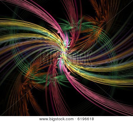 Feathery Flow Abstract