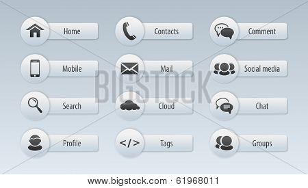 Web, Communication Icons: Internet