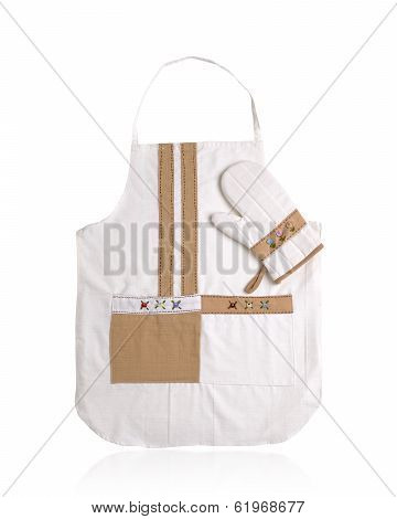 apron and protective glove