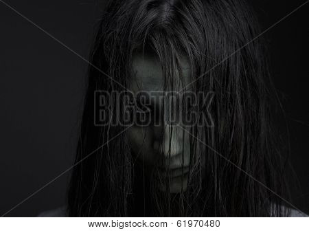 Zombie Girl With Horror Expression