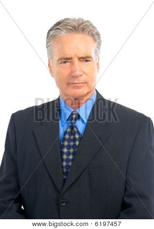 Serious Mature  Businessman
