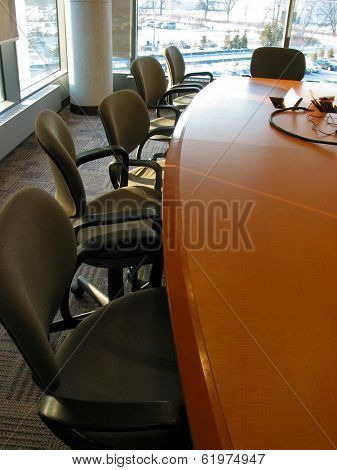 Business meeting or conference room