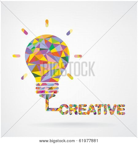 Creative Light Bulb Idea Concept Background .