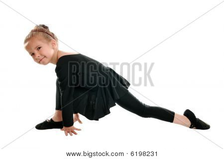 Beautiful Girl Engaged In Artistic Gymnastics