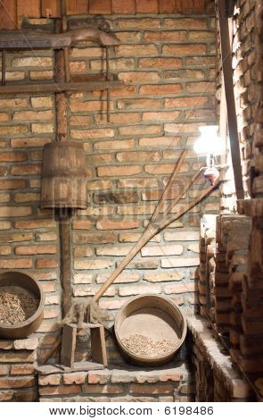 Old rural village interior