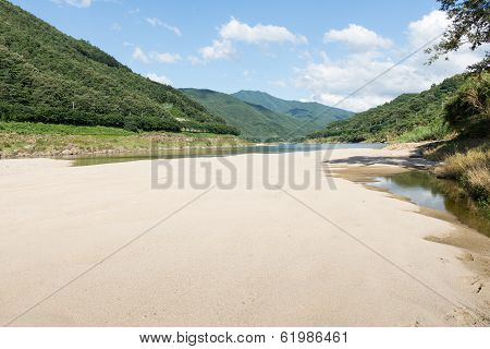 River Bed Landscape In South Korea