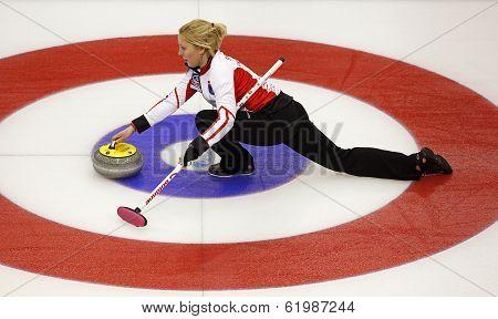 Curling Women Denmark Svensen House Rock