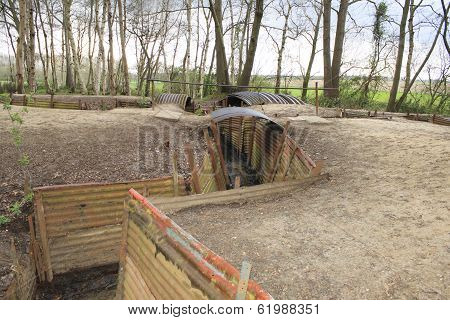 Trenches Flanders Fields Ypres Great World War One