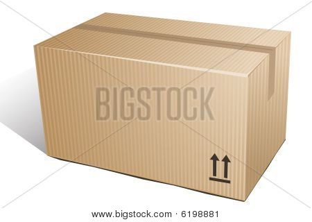 Corrugated box. Vector