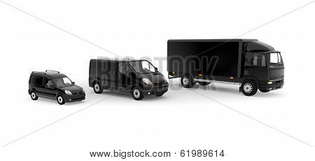 Black Transport Service Vechicules - Lorry And Delivery Cars