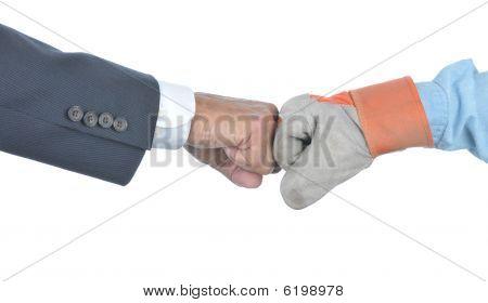 Labor Management Fist Bump