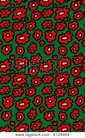 Seamless Christmas flower pattern