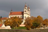 image of archangel  - Vilnius archangel church on the board river Neris - JPG