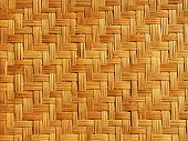 stock photo of bamboo  - Close up bamboo weave pattern - JPG