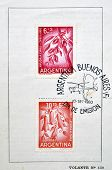 ARGENTINA - CIRCA 1960: Stamps printed in Argentina dedicated to helping Chile