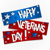 picture of veterans  - Creative Abstract Happy Veterans Day vector Illustration - JPG
