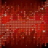 Shiny rhinestone red mosaic background