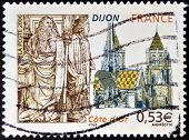 FRANCE - CIRCA 2006: A stamp printed in France dedicated to Dijon circa 2006