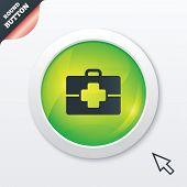 Medical case sign icon. Doctor symbol.
