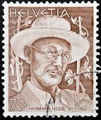 SWITZERLAND - CIRCA 1978: stamp printed in Switzerland shows Hermann Hesse circa 1978