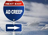 picture of creeping  - Ad creep road sign - JPG