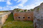 foto of mola  - Menorca La Mola Castle fortress wall in Mahon at Balearic islands - JPG