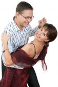 image of ballroom dancing  - an Attractive couple dancing the night away - JPG