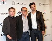 LOS ANGELES - MAR 23:  Ian De Caestecker, Clark Gregg, Brett Dalton at the PaleyFEST 2014 -